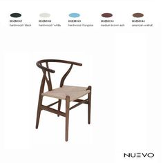 Nuevo Alban Dining Chair, finishes shown above. woven rattan seat $407