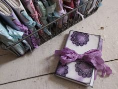 How to make a mini Travel Art Journal and Ghosting or Distress Ink Bleed Technique - 2 sheets art paper makes book with cover, hole punch and seam tape binding with fold-over cover Journal Covers, Book Journal, Journals, Art Journal Tutorial, Mini Books, Flip Books, Handmade Books, Art Journal Inspiration, Distress Ink