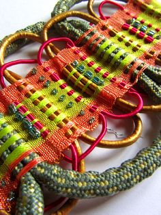 My work specializes in producing Passementerie collections for fashion, interior and jewellery applications. I utilize vibrant and fresh colour palettes and varied materials such as leather, cork,...