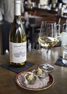 Chatham Vineyards' wine paired with oysters at Rappahannock Restaurant in Richmond. #RVA #vawine #vaoysters