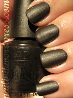 OPI Baby It's Coal Outside with matte topcoat :) I think I like the matte version better!