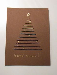 Hand made by Aino P. Diy Christmas Cards, Xmas Cards, Christmas Crafts, Christmas Decorations, Diy And Crafts, Paper Crafts, Making Ideas, Cardmaking, Crafty