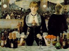 inch Photo Puzzle with 252 pieces. (other products available) - MANET: FOLIES-BERGERES. <br>The Bar at Folies-Bergeres. Oil on canvas by Edouard Manet, - Image supplied by Granger Art on Demand - Jigsaw Puzzle made in the USA Edgar Degas, Claude Monet, Folies Bergeres, Paul Cézanne, Georges Seurat, Pierre Auguste Renoir, Post Impressionism, French Artists, Famous Artists