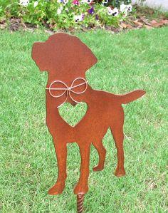 Labrador Retriever Garden Stake   Metal Yard Art   Metal Garden Art   Pet  Memorial 2