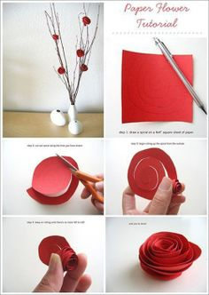 Idea for a romantic handmade Valentines Day decorations.