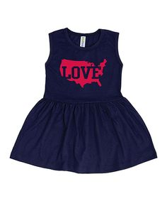Look at this Navy U.S. Map 'Love' Knockout Dress - Toddler & Girls on #zulily today!