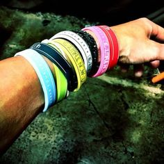 """INORAN collecting all the wristbands from his live shows. Two more shows to go before finishing his """"Beautiful Now...Again!"""" tour 2016.  Don't forget... NicoNico will be streaming live his final show Sunday April 24th. ; )  Photo courtesy of his Twitter account.  #inoran #INRN #beautiful_now #tour #jrock #rock #japan #guitarist #vocalist #guitarplayer #rockstar #musician #performer #lunasea #tourbillon #muddyapes #wristbands by jelmed1"""