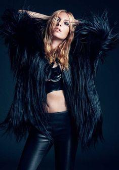 Josephine de La Baume Pose on So Chic Magazine Autumn 2015 Photoshoot