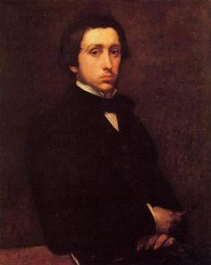 Artista: Edgar Degas Data da Conclusão: 1855 Estilo: Impressionism Género: self-portrait Técnica: oil Material: canvas Galeria: Musée d'Orsay, Paris, France