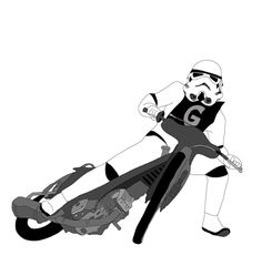 Stormtrooper Steve Brown, Motorcycle Art, Vintage Posters, Illustrations Posters, Honda, Bike, Funny, Artwork, Advice