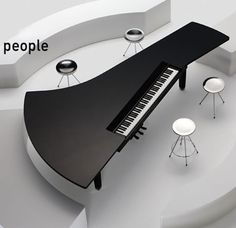 Fazioli Pianos-- I know that this is a piano design but it would be cool to have a table in a similar design too!