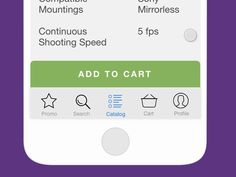 Adding to cart animation for photo store app by Vadim Pleshkov