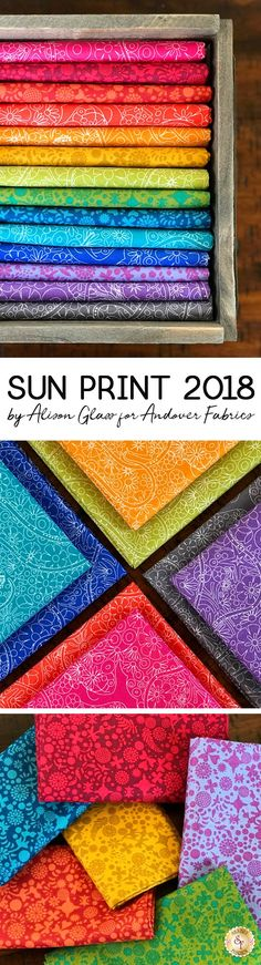 Sun Print is a vibrant collection by Alison Glass for Andover Fabrics available at Shabby Fabrics.