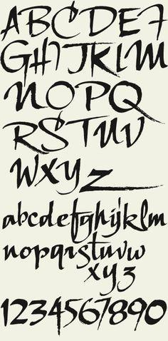 Letterhead Fonts / LHF Scriptana / Hand Lettered Script Fonts - Fonts - Ideas of Fonts - Letterhead Fonts / LHF Scriptana / Hand Lettered Script Fonts Tattoo Fonts Alphabet, Hand Lettering Fonts, Creative Lettering, Calligraphy Alphabet, Graffiti Lettering, Calligraphy Fonts, Typography Letters, Brush Lettering, Lettering Design