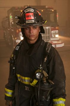 """Charlie Barnett sporting authentic LION Janesville® Super-Deluxe™ turnout gear as """"Peter Mills"""", a new fire academy graduate on NBC's 'Chicago Fire'. Charlie Barnett, Chicago Fire Department, Firefighter Training, Teen Wolf Boys, Chicago Shows, Chicago Med, The Avengers, Best Tv, Fire Trucks"""