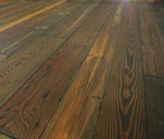 "Prefinished ""Grandpa Mac""  wide plank flooring. - RECLAIMED heart pine."