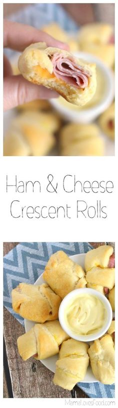 so easy! kids loved them!!!  Ham & Cheese Crescent Rolls