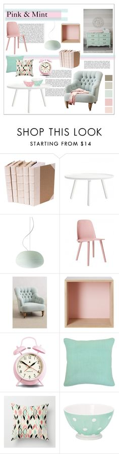 """Pink & Mint"" by liironnx ❤ liked on Polyvore featuring interior, interiors, interior design, home, home decor, interior decorating, Normann Copenhagen, Foscarini, Muuto and Newgate"