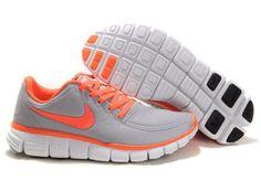 f7rLu Nike Free 5.0 V4 2012 Womens Running Shoes Grey Orange