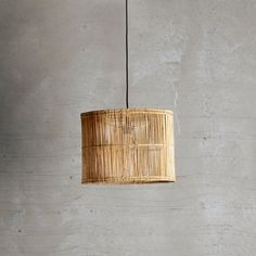 Lampshade in rattan, D40xH30, natural