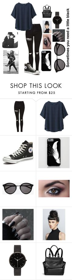 """Untitled #93"" by volleyballgurl26 ❤ liked on Polyvore featuring Topshop, Uniqlo, Converse, Yves Saint Laurent, I Love Ugly and Givenchy"