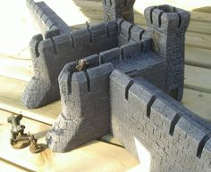 Building castle walls from foam