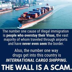 And the most importanti is, if you want to stop illegal immigration, stop sanctioning and bombing the foreign countries. The wall is a scam Donald Trump, Trump Wall, Patriarchy, Social Issues, Social Justice, Number One, Real Talk, Fun Facts, America