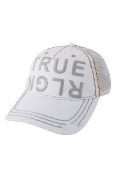True Religion Brand Jeans Denim Baseball Cap available at #Nordstrom