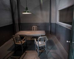 Greg interrogation room- concrete box