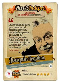 "#HeroisIndepes 76. Joaquín Leguina: ""La República tuvo que mandar al general Batet a ponerle las peras al cuarto al Companys este. Aquí yo creo que con una pareja de la Guardia Civil va a bastar."""