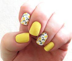Yellow Nails Design, Yellow Nail Art, Color Yellow, Blue Nail, White Nail, Purple Yellow, Toe Nail Designs, Acrylic Nail Designs, Fruit Nail Designs
