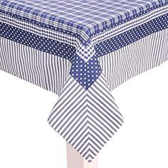 Clayre & Eef Tablecloth Patchwork Blue White Patterned 150 x 150 cm White Patterns, Sewing Hacks, Blue And White, Quilts, Clothes, Home Decor, Dining Table Runners, Kitchen Towels, Dish Towel Crafts