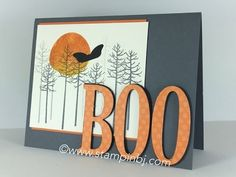 cardmaking video tutorial: Boo-tiful Thoughtful Branches ... luv the use of Fun Foam for dimension ...