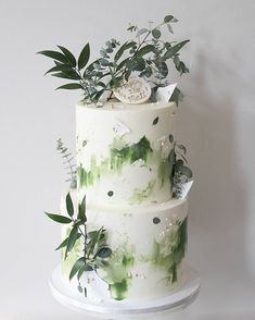 Soul Cake: Specializing in wedding and celebration cakes in MA Green Birthday Cakes, Adult Birthday Cakes, 21st Birthday, Fall Wedding Cakes, Wedding Cake Designs, Gorgeous Cakes, Pretty Cakes, Soul Cake, 21st Cake