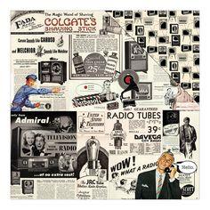 Authentique Paper - Dapper One Advertisement Collage/B & W TV