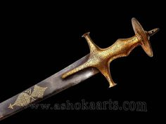 Antique Gold Indian Tulwar sword by Ashoka Arts, via Flickr