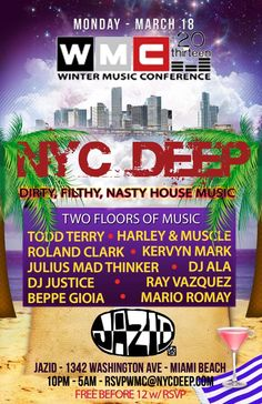 Todd Terry, Roland Clark, Harley & Muscle, DJ Justice, Ray Vazquez at WMC March 18 2013