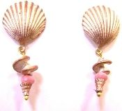 Michael Michaud Silver Seasons shell earrings. Such a soft and natural pink--and such beautiful detail! - This piece has sold but check out similar items at www.glassando.com #MichaelMichaud #Earrings #Shells #Handmade #Jewelry #IowaCity