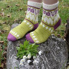Ravelry: Gro Lilja pattern by JennyPenny Knitting Patterns Free, Free Knitting, Baby Knitting, Fair Isle Knitting, Knitting Socks, Knit Socks, Cute Socks, Awesome Socks, Boot Toppers