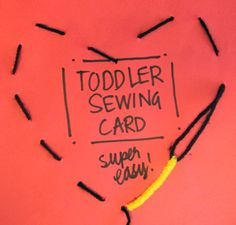 Teach kids to sew with this easy toddler sewing card idea #sew