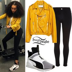 Outfits With Yellow Jackets 2698 Jackets Outfits Little Mix Outfits, Little Mix Style, Casual Outfits, Cute Outfits, Fashion Outfits, Pretty Quinceanera Dresses, Leather Jacket Outfits, Yellow Leather, Her Style