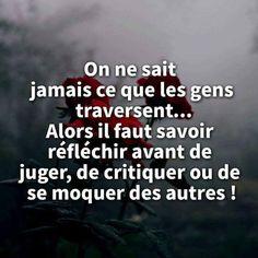 Citation Critique, On Ne Sait Jamais, Strong Words, Thinking Quotes, Self Control, Philosophy, Affirmations, Positivity, Motivation