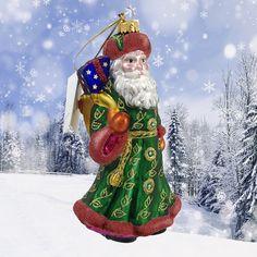 Glass Christmas Tree Ornaments, Bar, Holiday Decor