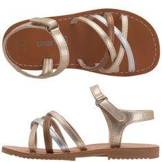 Can't beat it... Payless Shoes... Toddler Crisscross Sandal- Metallics
