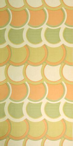 50s wallpaper #0201- running meter o. roll / vintage wallpaper / geometric