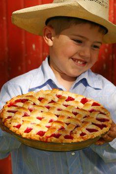 Boy With Cherry Pie
