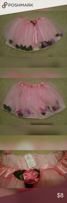 Super sweet, rose petal, tutu!! So cute! Excellent condition. Brand is Creative Education.  Size is M. Elastic waistband so it fits many sizes. Attached lining. 100% nylon. Creative Education Bottoms Skirts