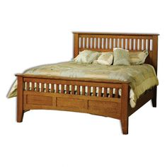 Mission Antique Bed - Amish Handcrafted furniture made in USA