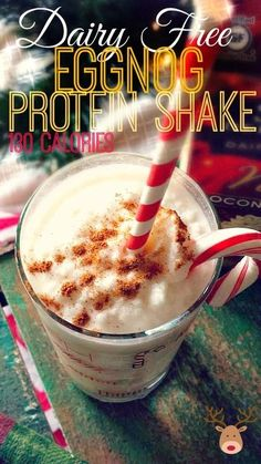 YES! YES! YES! – 130 Calorie Dairy Free Eggnog Protein Shake! – Simply Taralynn