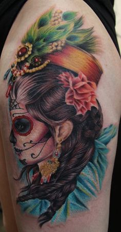 Off the Map Tattoo : Tattoos : Skull : Day of the dead girl